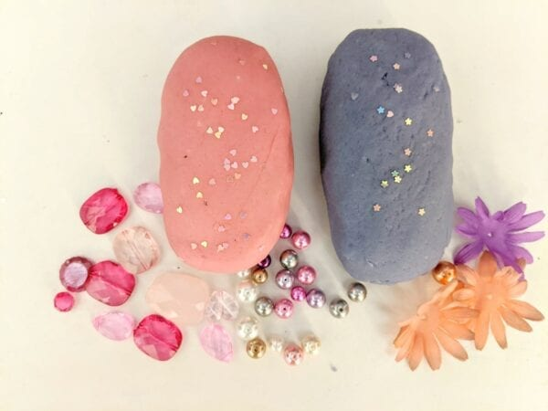 Pink and Purple Princess Sensory Play Dough