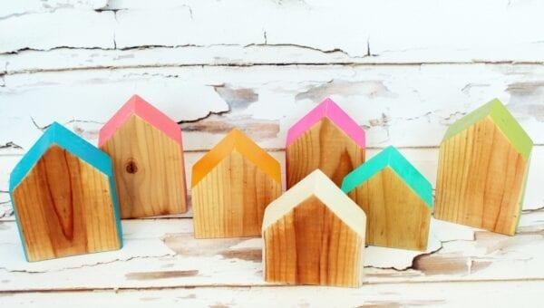 Sensory Box Family Wooden Stacker Houses