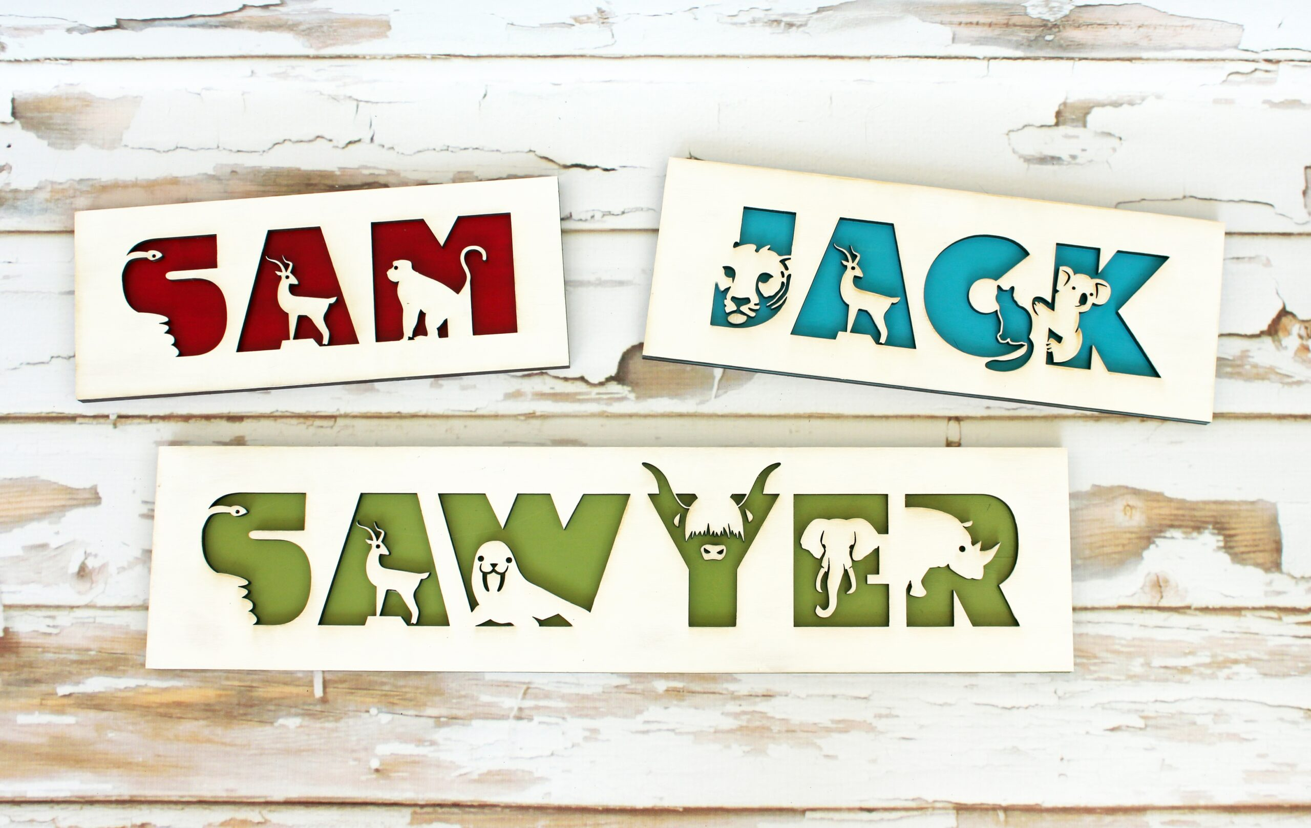 Personalize Animal Name Sign for Children by Sensory Box Family