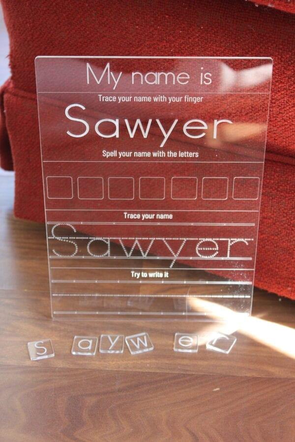 Sensory Box Family Acrylic Name Tracer
