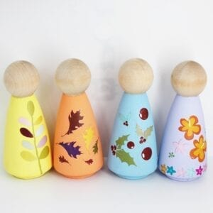 Sensory Box Family Seasonal Wooden Stacker People