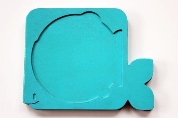 Blue Wooden Food Chain Stacker Puzzle Piece by Sensory Box Family