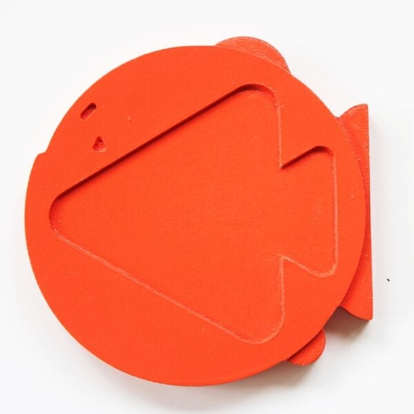 Orange Wooden Food Chain Stacker Puzzle Piece by Sensory Box Family