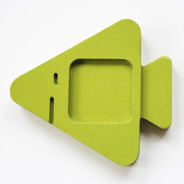 Green Wooden Food Chain Stacker Puzzle Piece by Sensory Box Family
