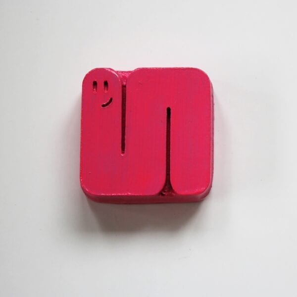 Pink Wooden Food Chain Stacker Puzzle Piece by Sensory Box Family