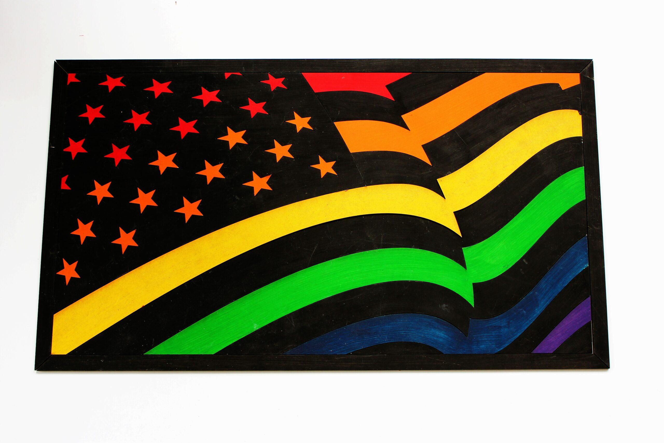 Sensory Box Family DIY Pride Flag Puzzle