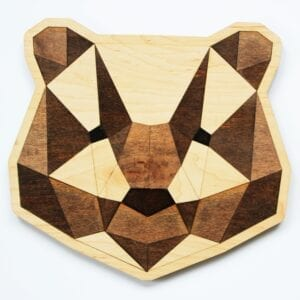 Sensory Box Family Wooden Tangram Bear Puzzle