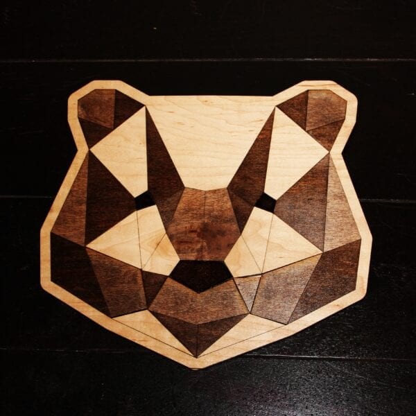 Sensory Box Family Handcrafted Wooden Tangram Bear Puzzle