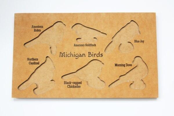 Sensory Box Family Wooden Bird Puzzle Backerboard